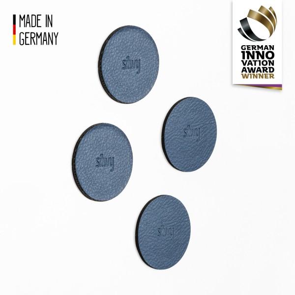 """Metall-Nano-Gel-Pads, 5 cm """"BLUE"""" 4er Set"""