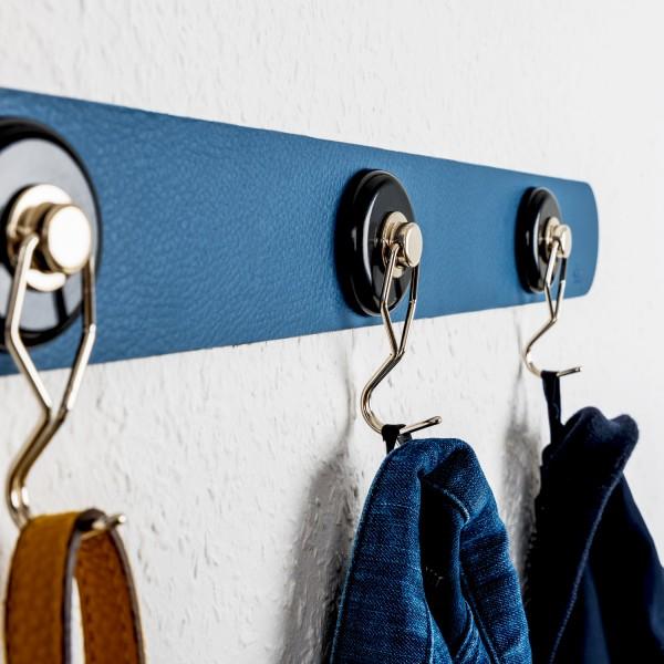 Metall-Leiste 50 cm für Gläser / Pins / Haken (BLUE)