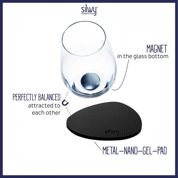 Metall-Nano-Gel-Pads (freie Form) BLACK