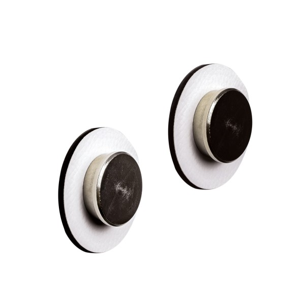 "Magnet-Pins ""SMART"" inkl. Metall-Nano-Gel-Pads WHITE"