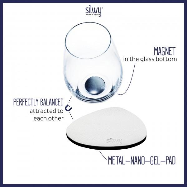Metall-Nano-Gel-Pads (freie Form) WHITE