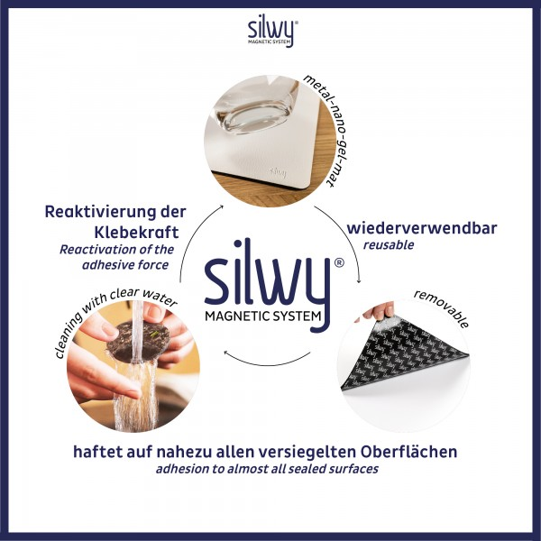 Metall-Nano-Gel-Matte WHITE für Magnetgläser