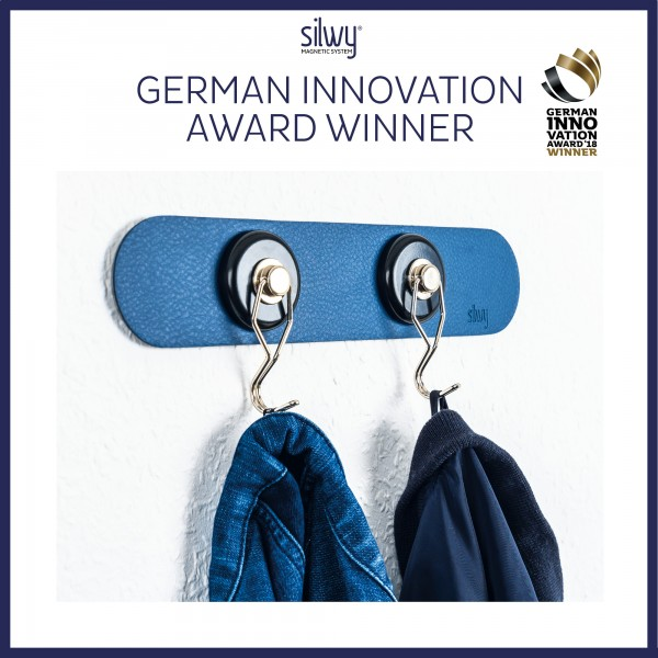 Metall-Leiste 25 cm BLUE für Magnetgläser
